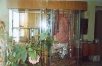 Фрагмент экспозиции: юбка из льняного полотна ручной выделки