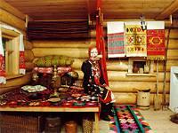 Фрагмент выставки Интерьер башкирской избы