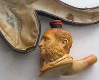 Трубка с портретом И.Айвазовского. Вена. Мастерская Хиссов. Вторая половина XIX в. Частная коллекция