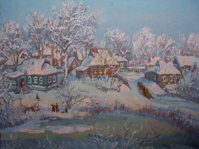 Экспозиции: Зима пришла. 2001.  300 дпи  10х15 см