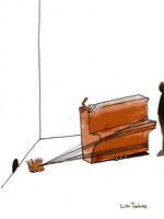 Ростан Тавасиев. Пианино. Эскиз инсталляции. 2009.
