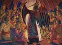 Тува.Ритуальный танец. Персональная выставка О. Амосовой-Бунак в Центральном Доме художника