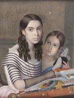 Крендовский ЕФ Портрет девочек из рода Капнистов, 1848