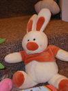 Экспонат выставки игрушечных зайцев
