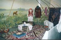 Фрагмент экспозиции Нашей истории строки, раздел Аборигены степей
