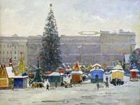 Пичугин. Пушкинская площадь 1947