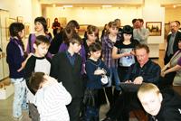 Творческая встреча с династией художников Миловановых,  2010 г.