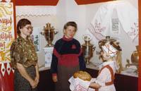 На выставке Русский самовар.1989г
