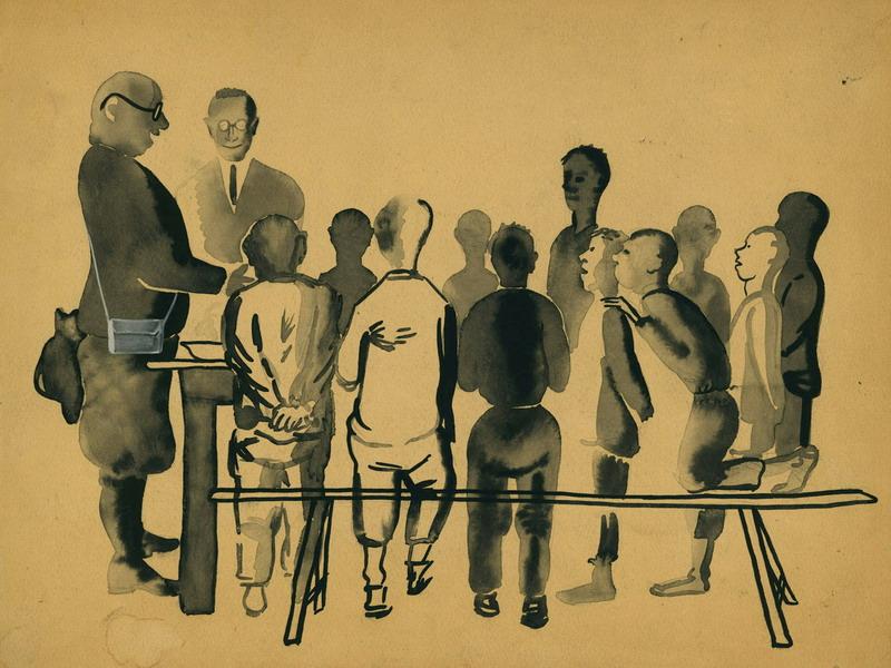Экспозиции: Поманский-Слушают – Александр Поманский. Слушают. 1930