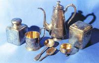 Клад столового серебра  П.Рязанцева