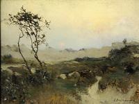 Биарриц. Перед грозой. Озеро в ландах и горелый сосновый лес. 1891
