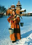 Зимние забавы в музее Тальцы