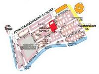 Схема Почтового городка