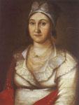 Портрет А.М.Гончаровой, матери писателя