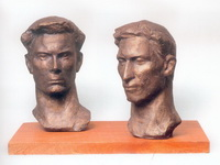 А.Хаустов. Футболисты. Мастера спорта В.Панчихин и Л.Бурчалкин. 1964.