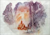 Филаретовский храм. Выставка  В. Чефранова в Зеленоградском музее