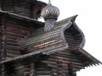 Спассо-Зашиверская церковь в музее под открытым небом в Академгородке