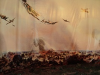 Панорама воздушного боя. Новосибирск, Музей А.И. Покрышкина