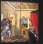 Первый зал выставки Россия - Италия. Сквозь века. От Джотто до Малевича. У картины Джованни Беллини