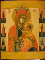 Богоматерь «О, Всепетая Мати», с избранными святыми на полях. 1804 год. Григорий Павлов