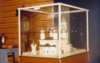 Макет Троицкого собора, построенного на средства крестьян в 1904г. В 30-е годы был разрушен