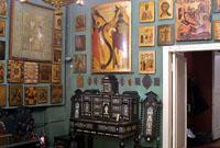 Зеленая гостная с Чудом в Хонех. Музей-квартира художника П.Д.Корина
