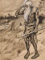 Старейший. Иллюстрация к книге Приключения доисторического мальчика.