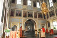 Интерьер храма Воскресения Христова в Кадашах