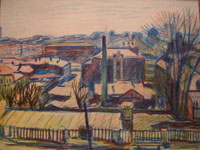 Вакидин. Крыши. 1944