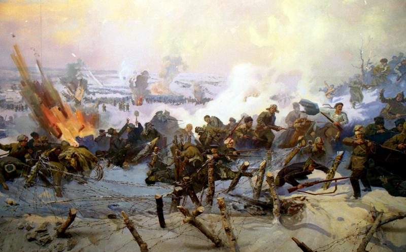 Экспозиции: Панорама Волочаевская битва
