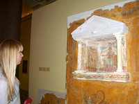 На выставке Otium Ludens. Античные фрески Стабий