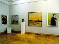 Экспозиция зала Живопись Б.М.Кустодиева