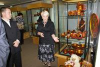 Открытие выставки хохломы из коллекции Н.Н. Чайковской
