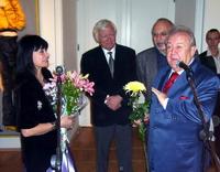 На открытии выставки Татьяны Назаренко в Мраморном дворце 16 ноября 2006 года