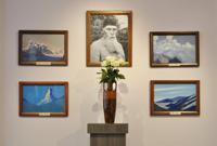 Центральная часть экспозиции выставки картин Н.К.Рериха в Музейно-выставочном центре Тамбовской области