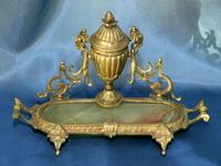 Чернильница, конец XIX в., металл, оникс