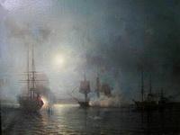 Боголюбов А. Бой корабля Флора. 1857. Холст, масло