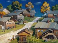 Экспозиции: В.У.Едемский Северная деревня 2000