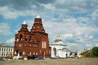 Вид на Троицкую церковь и Золотые ворота