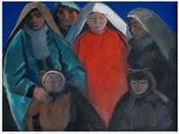 Н. Мартынов. Ненецкие женщины. 1968