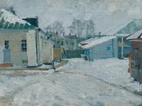 Дворик в провинции. 1910.  Холст, масло