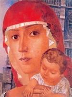 Петров-Водкин Богоматерь с младенцем