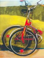 Фрагмент инсталляции Страсть к дороге 1996.