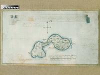 Карта Аглимозерской пустыни 1783 г.  (после реставрации)