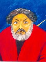 Т.Назаренко. Портрет А.Зарипова. 2007. Холст, масло. 60х60.