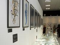 Витрины с экспонатами. 2009. Современный музей каллиграфии