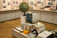 Фрагмент экспозиции второго зала, посвященного истории тифлотехники