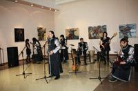 Концерт группы Урагшаа  на выставке З. Доржиева