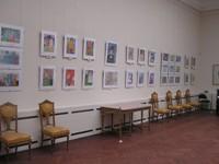 Экспозиция выставки - детские рисунки