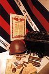 Экспонаты и документы периода Великой Отечественной войны.